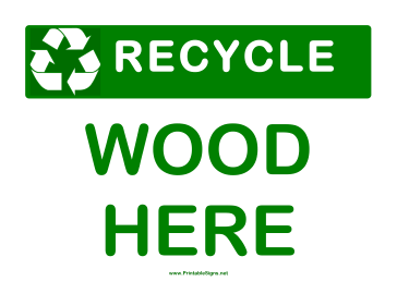 Recyclable Wood Sign