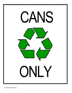 Recycle Cans Sign