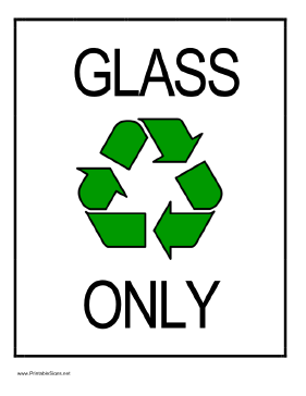 Recycle Glass Sign