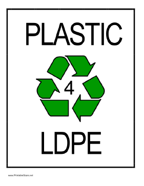 Recycle Plastic type 4 Sign