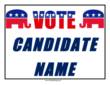 Republican Campaign Sign Sign
