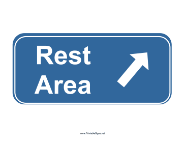 Rest Area Sign Sign