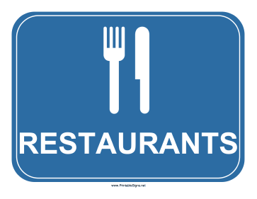 Restaurants Sign