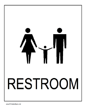 Printable Family Restroom Sign