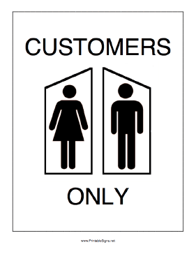 Restrooms for Customers Only Sign