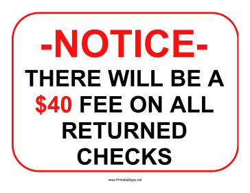 picture relating to Will Return Sign Printable named Printable Returned Assessments 40 Income Signal