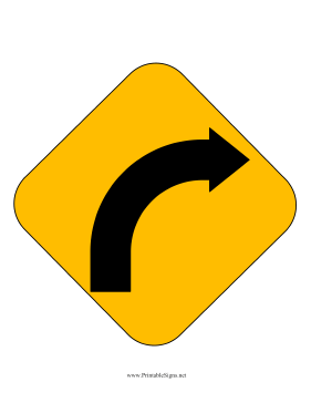 Right Curve Sign Sign