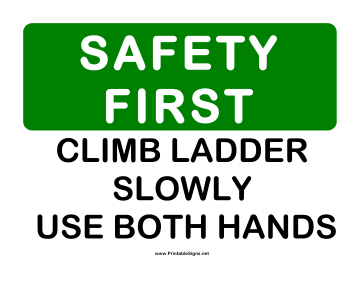 Safety Ladder Sign