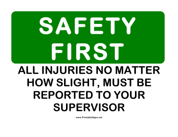 Safety Report Injuries Sign