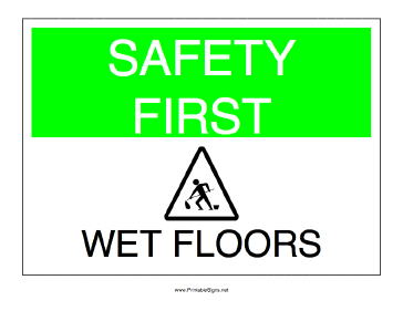 Wet Floors Sign