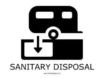 Sanitary Disposal with caption Sign