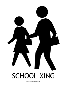 School Xing with caption Sign