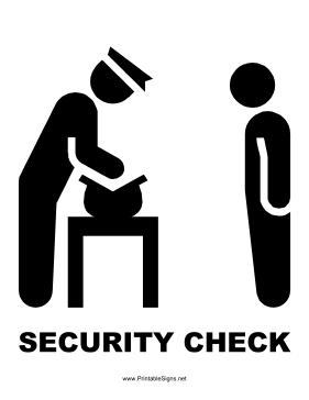 Printable Security Check Sign Appointment In Office Signs Here