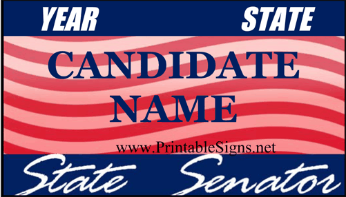 Senator Sign Palm Cards Sign