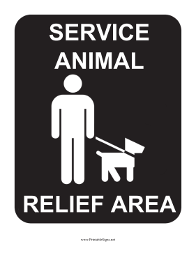 Service Animal Relief Area Sign