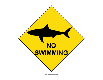 Shark Warning Sign Sign