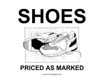 Shoes Yard Sale Sign