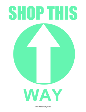 Shopping Direction Floor Sign Sign