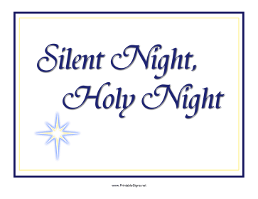 Silent Night Sign Sign