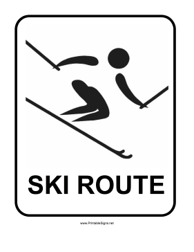 Skiing Sign Sign
