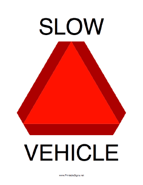 Slow Moving Vehicle Sign