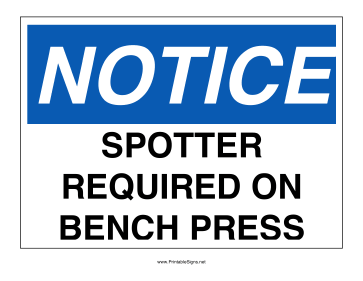 Spotter Required Sign