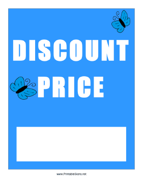 Spring Discount Price Sign