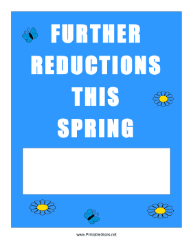 Spring Further Reductions Sign