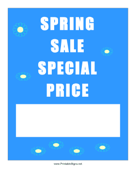 Spring Sale Special Price Sign