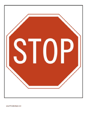 Magic image in printable stop sign