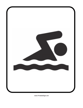 Swimming Sign Sign
