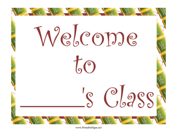 Teacher Welcome Sign Sign