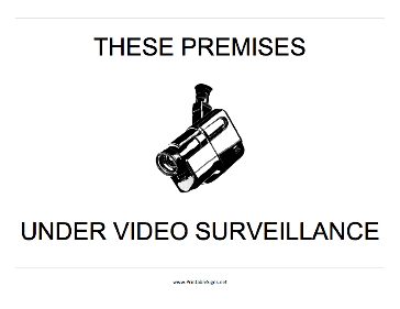 photo about Video Surveillance Signs Printable called Printable Those people Premises Movie Surveillance Indicator