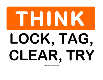 Think Lock Tag Sign