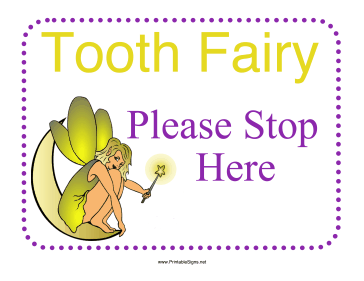 Tooth Fairy Sign Sign