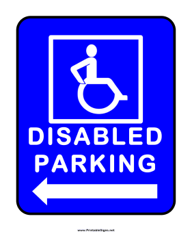 Disabled Parking Left Sign