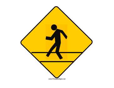 Pedestrian Path Sign