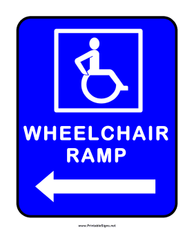 Wheelchair Ramp Left Sign