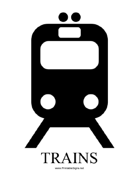 Trains with caption Sign
