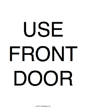 photo regarding Please Use Other Door Sign Printable identified as Printable Retain the services of Entrance Doorway Indication