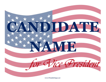 Vice President Campaign Sign Sign