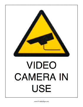 graphic about Video Surveillance Signs Printable known as Caution Indicators