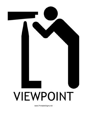 Viewpoint with caption Sign