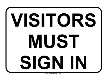 Visitor Sign In Sign