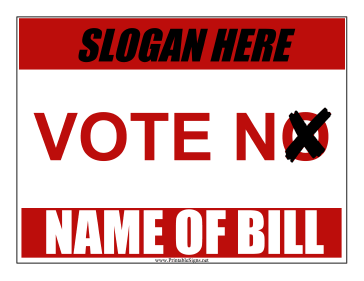 Vote No Campaign Sign Sign