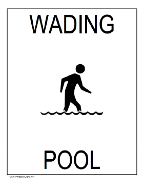 Wading Pool Sign