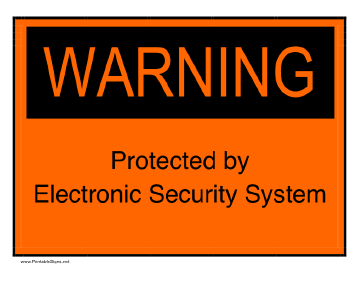 Electronic Security Sign