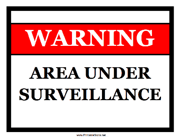 photo regarding Video Surveillance Signs Printable identify Caution Indicators