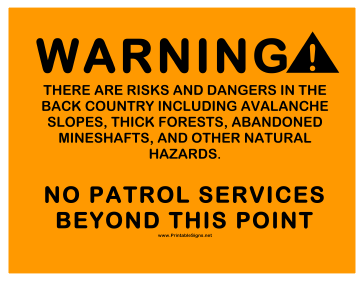 No Patrol Services Sign