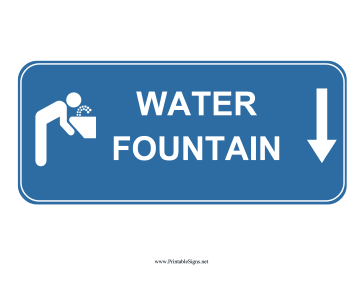 Water Fountain Down Sign Sign